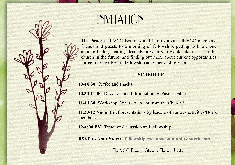 Invitation Congregation Retreat 18 March2017 Vienna